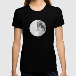 First Quarter Moon on Navy T-shirt