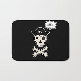 Skul face pirate Bath Mat