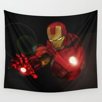ironman Wall Tapestries featuring Ironman MK1  by Jamesy