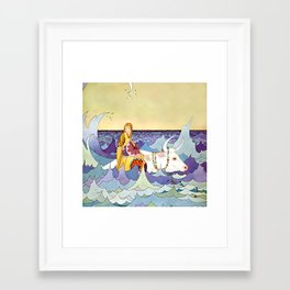 """Europa and the Bull"" by Virginia Sterrett Framed Art Print"