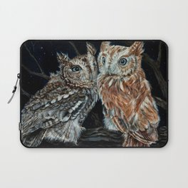 young love on a starry night - screech owls Laptop Sleeve
