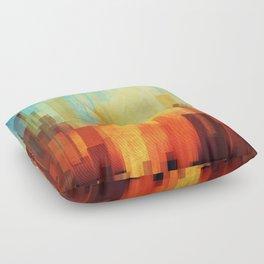 Urban sunset Floor Pillow