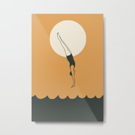 Dive into the sunset Metal Print