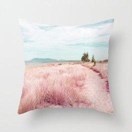 Coastal trail - blush Throw Pillow