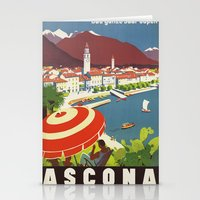 switzerland Stationery Cards featuring Switzerland by Kathead Tarot/David Rivera
