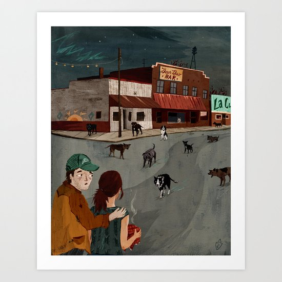 City Of Dogs Art Print