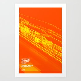 The Love Series 200 Orange Art Print