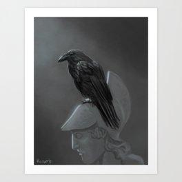 Upon Pallas' Bust Art Print