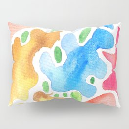 170623 Colour Shapes Watercolor 3  Abstract Shapes Drawing   Abstract Shapes Art Watercolor Painting Pillow Sham