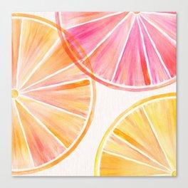 Summer Citrus Party Canvas Print