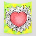 Watercolor Doodle Art | Heart by coloringiship