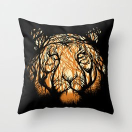 Hidden Hunter Throw Pillow