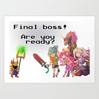 LoL - Boss Battle Art Print