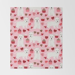 Westie west highland terrier dog breed valentines day cute dog person must have gifts pet portraits Throw Blanket
