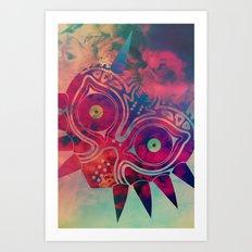 Watercolored Majora's Mask Art Print