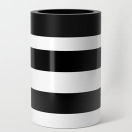 Stripe Black & White Horizontal Can Cooler