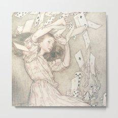 Alice in Wonderland Cards Metal Print