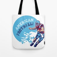 nfl Tote Bags featuring American Football by Studio|19