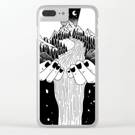 The world in my hand Clear iPhone Case