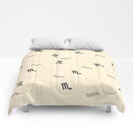 Scorpio Pattern - Beige Comforters