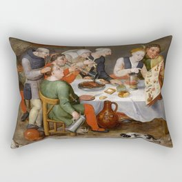 "Hieronymus Bosch ""The Bacchus Singers"" Rectangular Pillow"