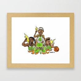 Fire it up! Boston #Basketball– #IsaiahThomas #JaeCrowder #MarcusSmart Framed Art Print