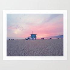 Malibu Sunset Art Print