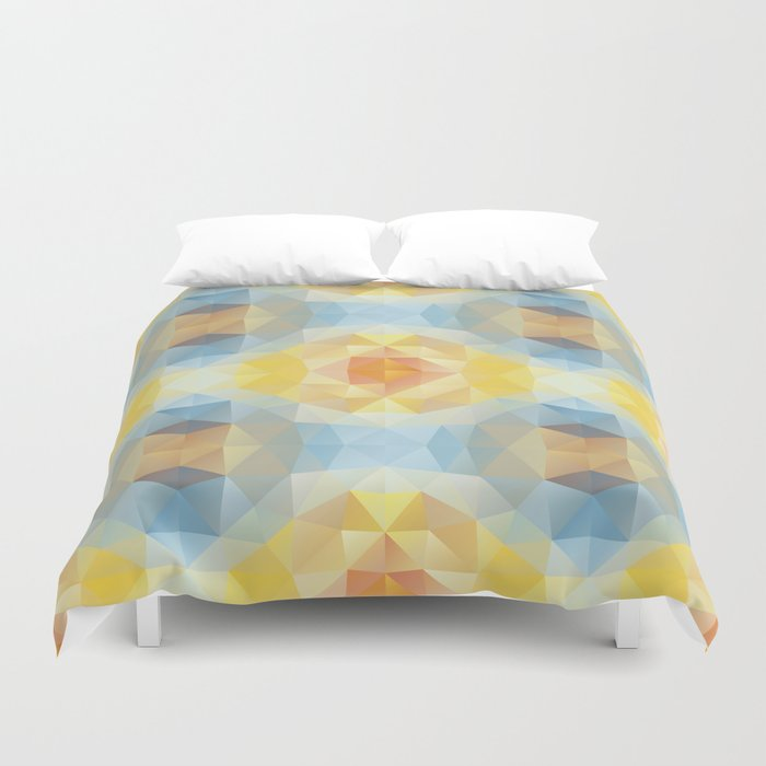 Kaleidoscopic design in soft colors Duvet Cover