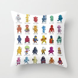 ROM and his Spaceknights in Adorable Collectible Minisize Throw Pillow