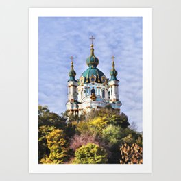 St Andrew's Church, Kiev Art Print