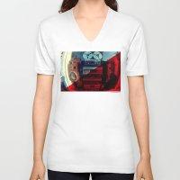 sound V-neck T-shirts featuring Sound by sysneye
