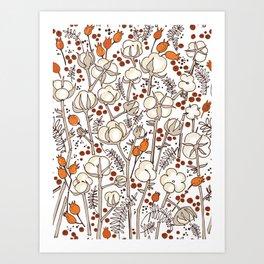 Winter herbs Art Print