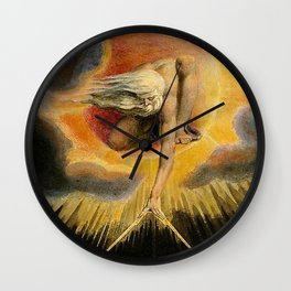 The Ancient Of Days Painting William Blake Wall Clock