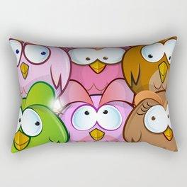 funny owl cartoon background Rectangular Pillow