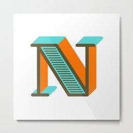 Letter N Metal Print