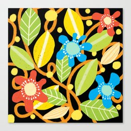 Abstract Floral Design Canvas Print