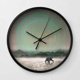 Spinning Out of Nothingness Wall Clock