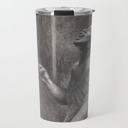 African-American Classical Masterpiece 'Folk Singer' by Charles White Travel Mug