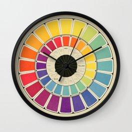 Color Wheel Spinner Wall Clock