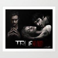Twilight.... Wait, no. True Blood. Art Print
