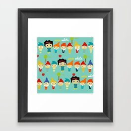 Snow White and the 7 dwarfs Framed Art Print