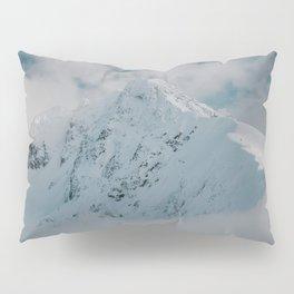 White peak - Landscape and Nature Photography Pillow Sham