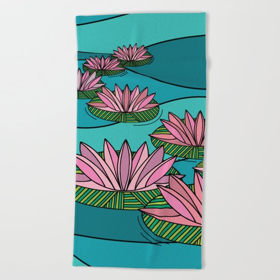 WATER LILIES Beach Towel