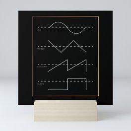 Sine Triangle Sawtooth Mini Art Print