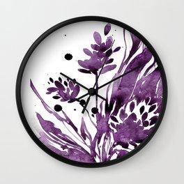 Organic Impressions No.104 by Kathy Morton Stanion Wall Clock