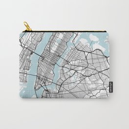 New York City Map of the United States - Circle Carry-All Pouch