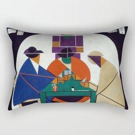 Theo van Doesburg - Card players Rectangular Pillow