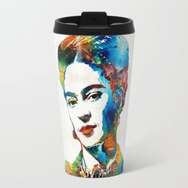 Frida Kahlo Art - Viva La Frida - By Sharon Cummings Travel Mug