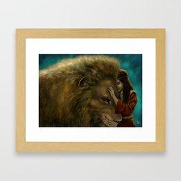 Aslan & Lucy Framed Art Print