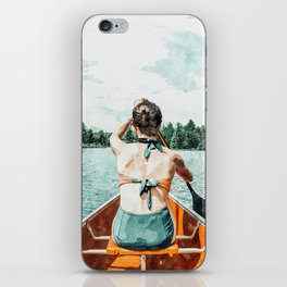 Row Your Own Boat #illustration #decor #painting iPhone Skin